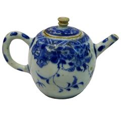 17th Century Blue and White Porcelain Teapot from The Hatcher Collection