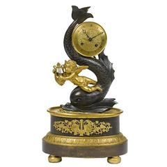 19th Century French Bronze Figural Clock