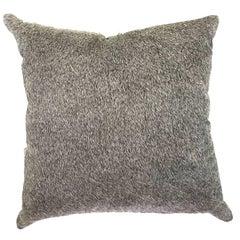 Salt and Pepper Brazilian Cowhide Pillow
