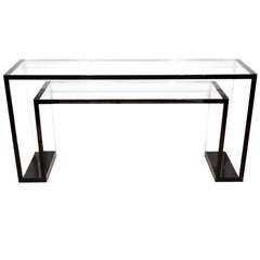 Alexandra Von Furstenberg Stealth Console Table in Opaque Black