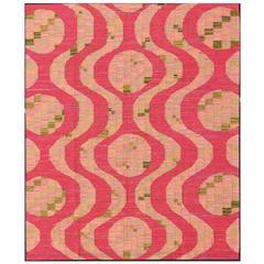 Scandinavian Design Flat-Weave Rug