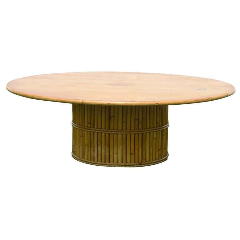Mid-Century Rattan Coffee Table