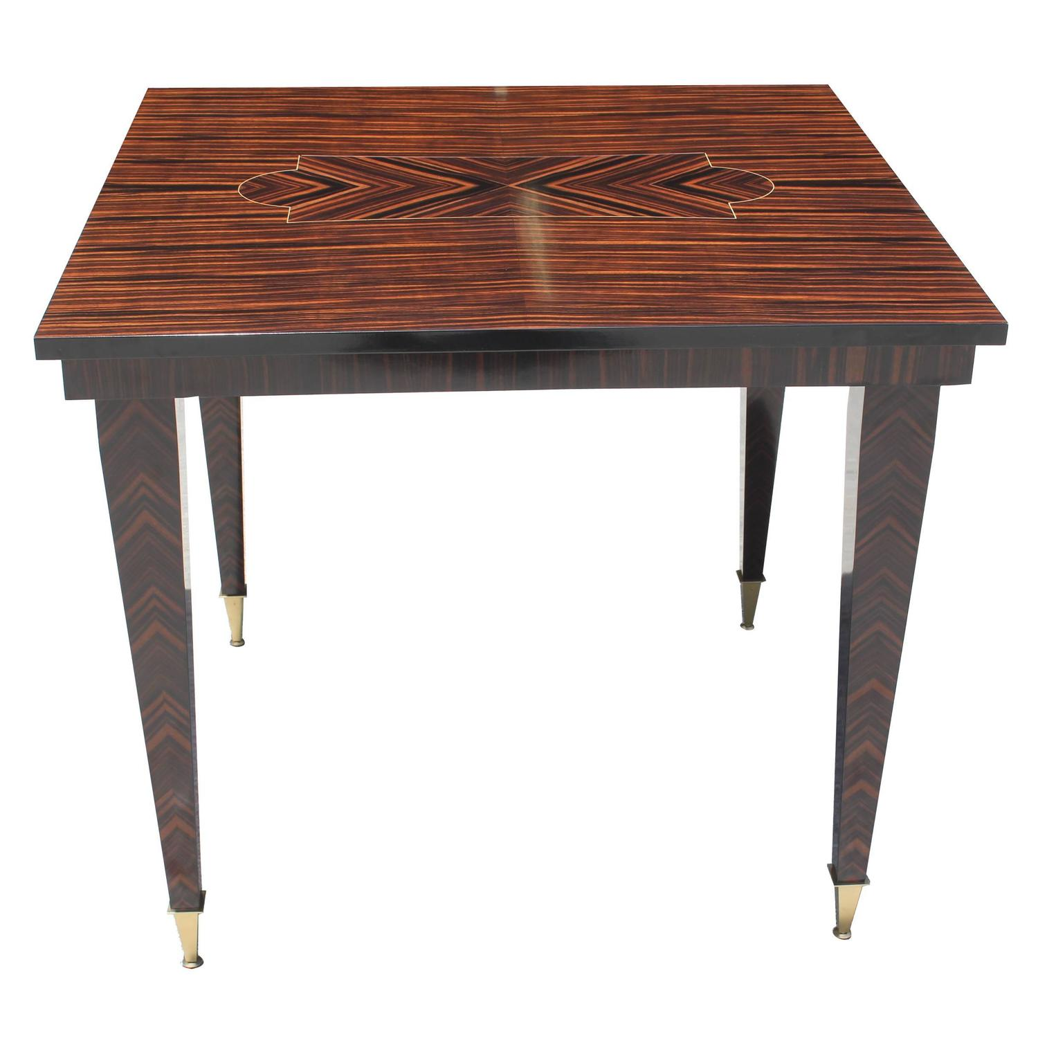 Art Deco Foyer Table : Spectacular french art deco exotic macassar ebony center