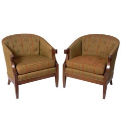 Pair of Glamorous Lounge Chairs by Henredon
