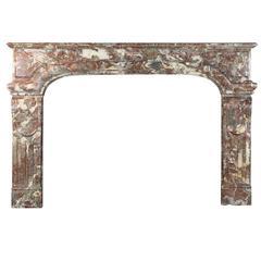 19th Century Belgian Rochefort Marble Original Antique Fireplace Mantle