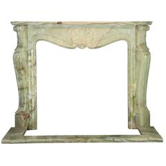 20th Century Mid-War Fireplace Mantel in Onyx