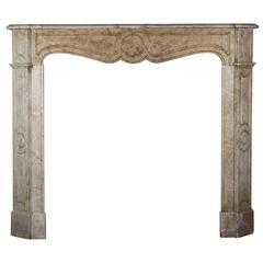 19th Century Original Marble Antique Fireplace Mantel
