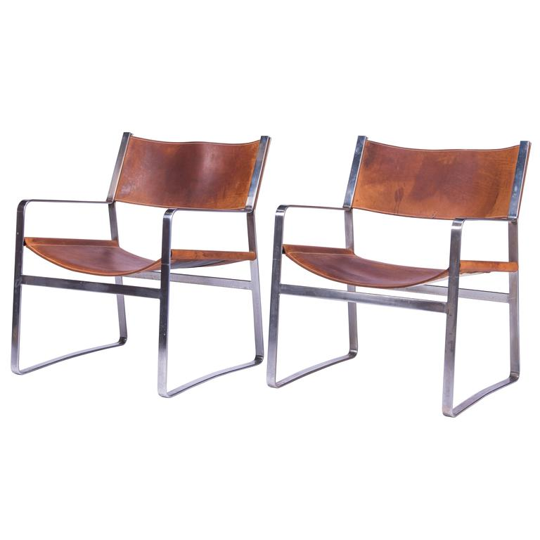 Pair of Hans Wegner Lounge Chairs for Johannes Hansen