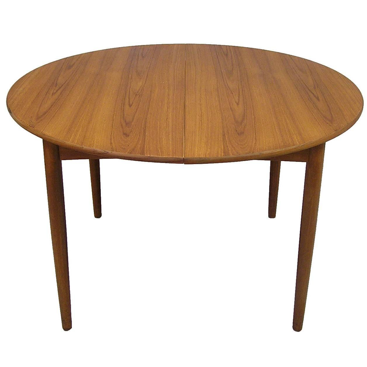 1950s danish teak dining table by brge mogensen model 121 - Scandinavian Teak Dining Room Furniture