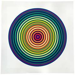 Julio Le Parc Op Art Color Silkscreen, 1970