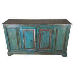 Painted Sideboard from Late 19th Century Window Shutters