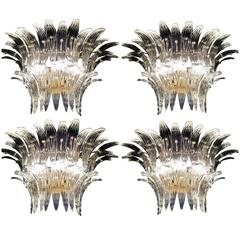 """Four """"Palmette"""" Sconces by Barovier & Toso, 1960s"""