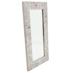 Studio Built Mirror in Mosaic Stainless Steel by Stan Usel