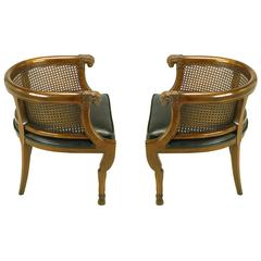 Pair of Tomlinson Rams' Heads and Hoofed Legs Empire-Style Armchairs