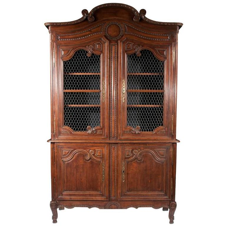 Country French Two-Part Buffet De Corps For Sale