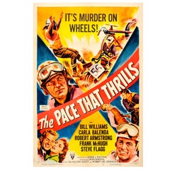 "Vintage Movie Poster for a Motorcycle Racing Film ""The Pace That Thrills"""