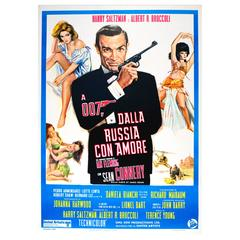 Original Vintage 007 James Bond Movie Poster for the Film from Russia with Love