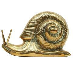 1950s Large French Brass Snail Sculpture