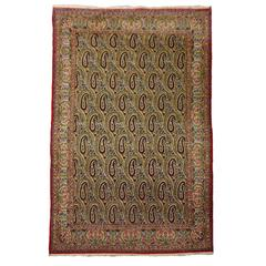 Persian Rug Qum with Vintage Kerman Design
