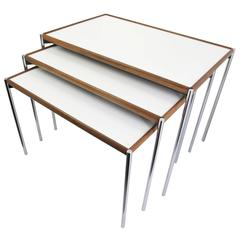 Reversible Model 125 Nesting Tables from Lämmle & Co, Set of Three