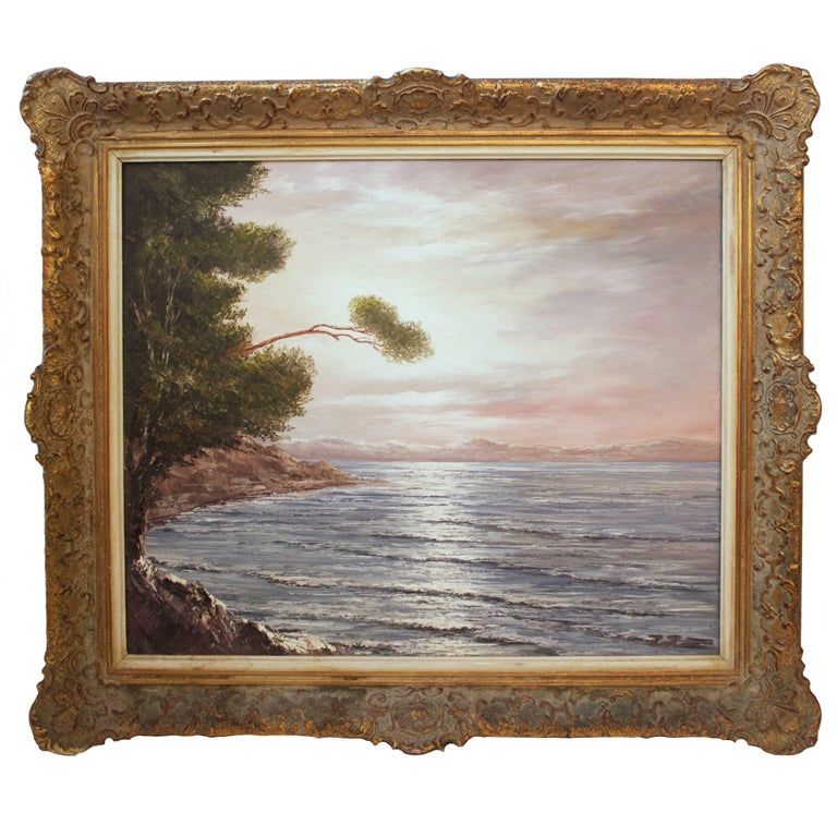 """Signed Oil Painting """"Ostee"""" of the Baltic Sea For Sale"""