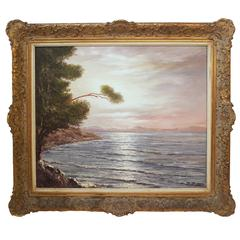 "Signed Oil Painting ""Ostee"" of the Baltic Sea"