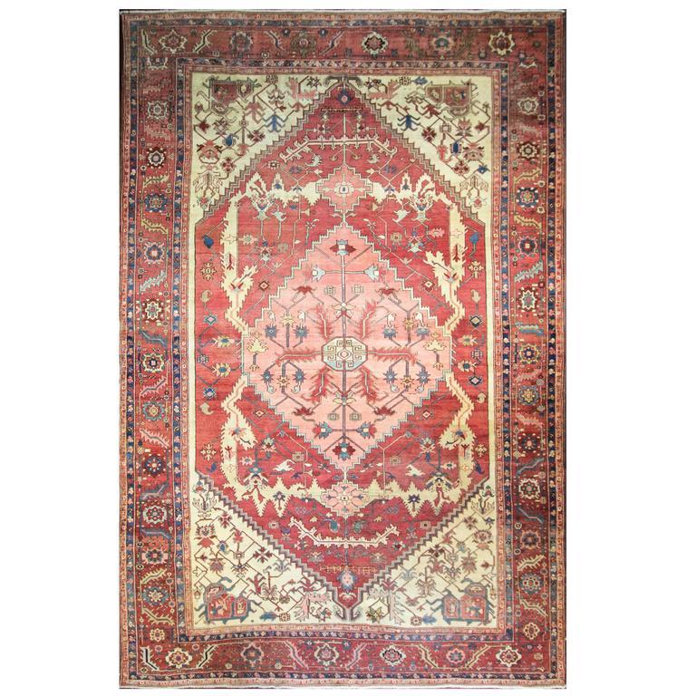 Spectacular Antique Serapi Carpet