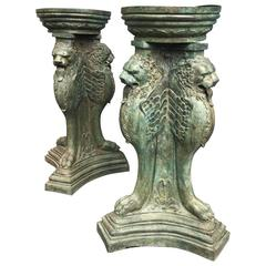 Pair of Bronze Planters or Garden Urns