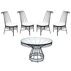 Elegant Cap d'Ail Dining Set Attributed to Mathieu Matégot
