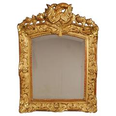 Superb French Regence Period Giltwood Wall Mirror