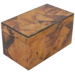 R & Y Augousti Parchment Box Signed Paris, 1990s