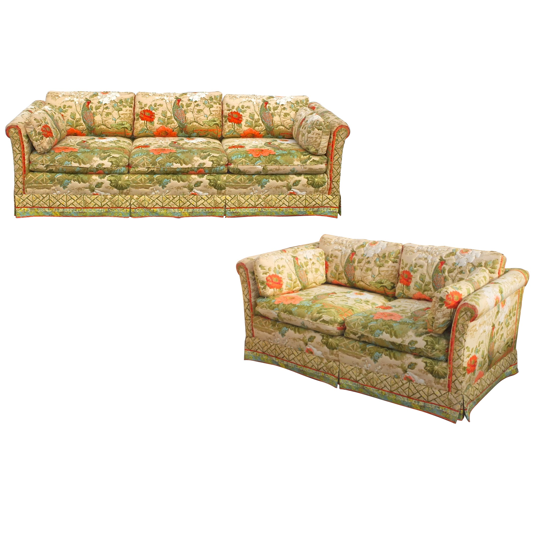 """""""Palm Beach"""" Sofa and Love Seat in Greeff Peony Garden"""