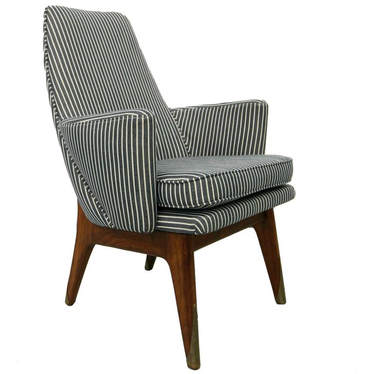 Single mid century lounge side chair designed by adrian for Single lounge chairs for sale