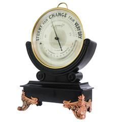 Victorian Dial Brass Aneroid Barometer