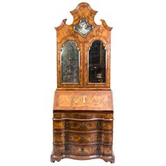 18th Century Important Venetian Bureau Bookcase