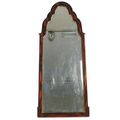 Magnificent Mirror of the 1930s in Macassar Ebony, with Mercury Bevelled Mirror