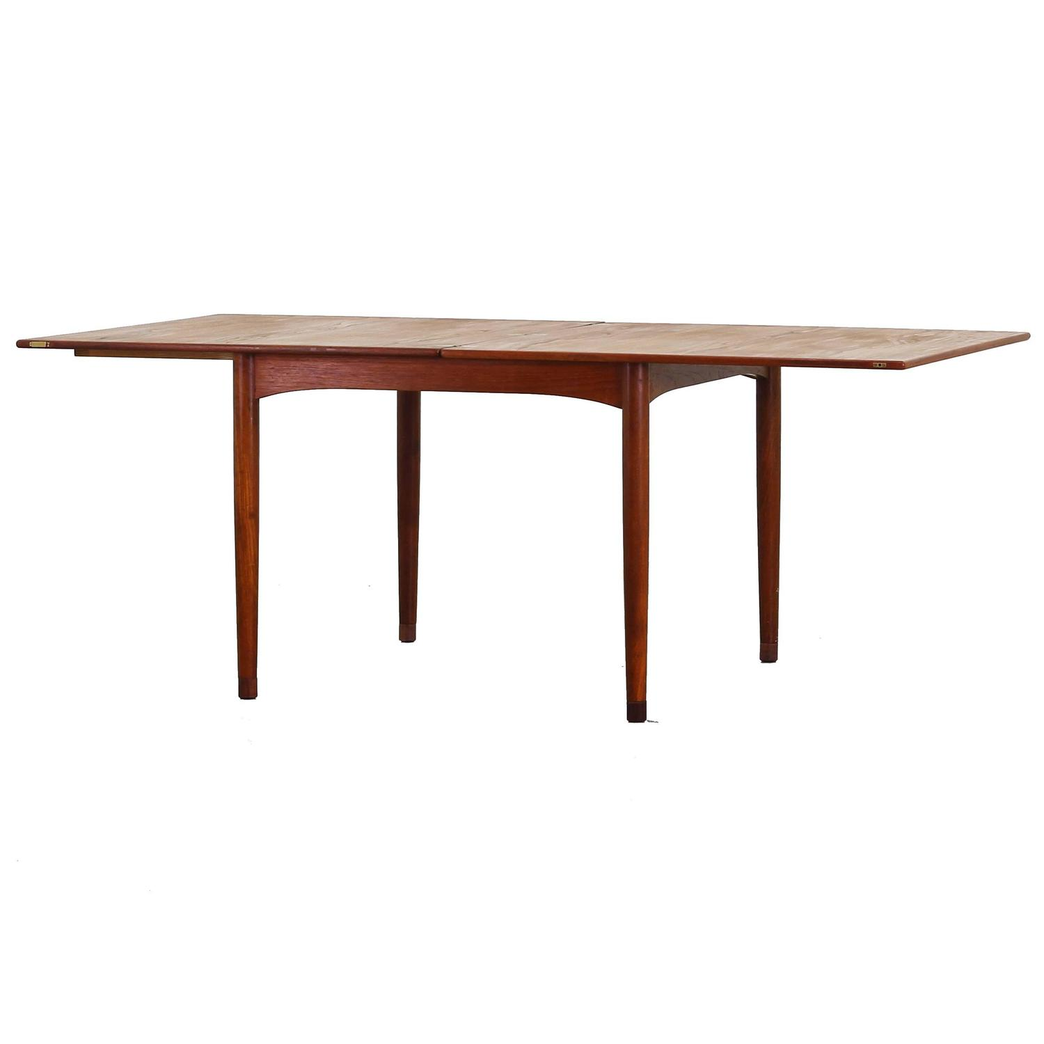 Rare Dining Expandable Table With Flip Top By Borge Mogensen For Soborg For Sale At 1stdibs