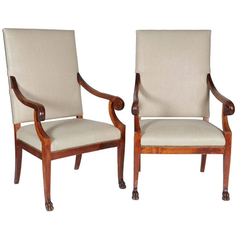 Pair Of Biedermeier Style Late 19th Century Chairs 1
