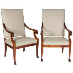 Pair of Biedermeier Style Late 19th Century Chairs