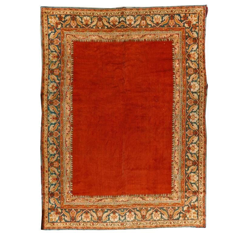 Antique European Oushak Style Rug For Sale At 1stdibs