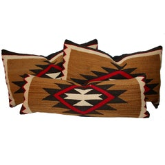 Group of Three Early Navajo Weaving Pillows
