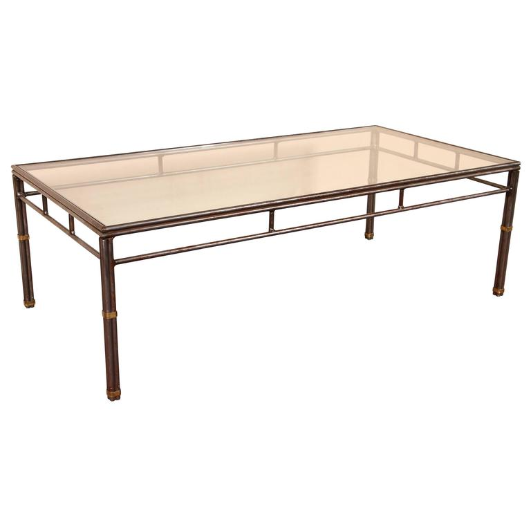 Hollywood Regency Gold Bamboo Coffee Table For Sale At 1stdibs