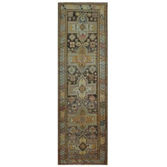 Long Antique Caucasian Runner Rug