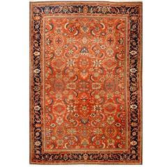 Large Handmade Antique Persian Mahal Rug