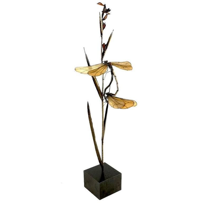 Dragonfly Sculpture in the Style of Curtis Jere