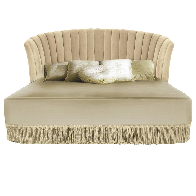 European modern upholstered fringed seviliana king queen for European beds for sale