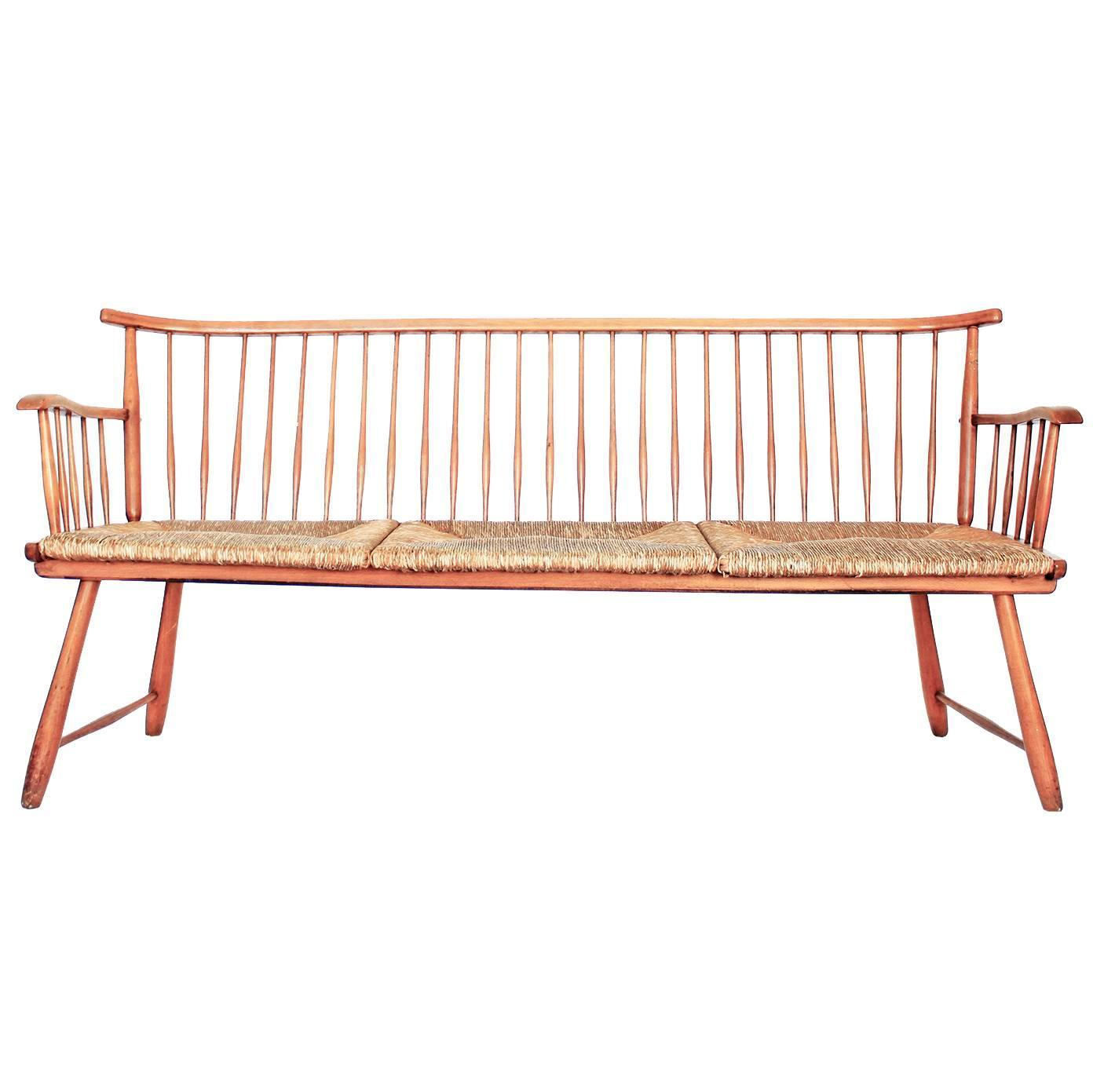 Shaker Style Bench Designed By Arno Lambrecht For Sale At