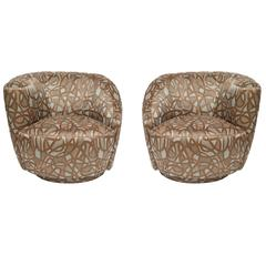 Pair of Vladimir Kagan Swivel Nautilus Chairs