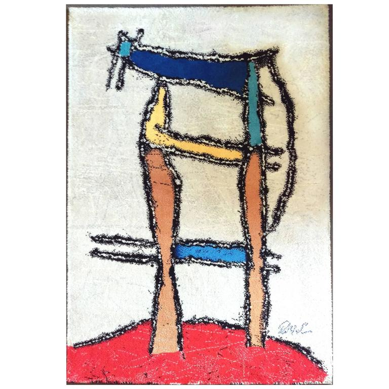 Ege Art Line Rug: Danish Modern Abstract Rug/Wall Tapestry By Ege Axminster
