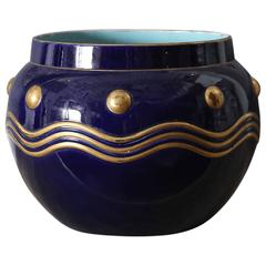 French Faience Cachepot